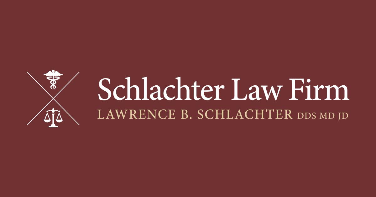 Dr  Schlachter, former neurosurgeon and malpractice attorney